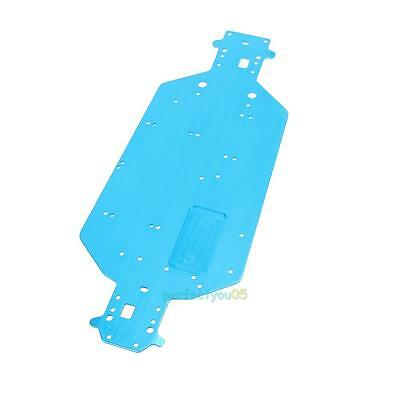 Redcat HSP 04001 Aluminum Chassis Parts for HSP 1/10 Scale RC Car Models Blue