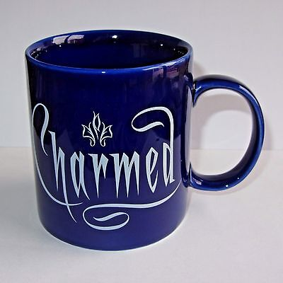Rare Charmed Coffee Mug Cup  Halliwell Witch Sisters  2007 TV Show Trihorn Logo