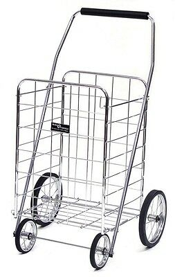 Collapsible Steel Shopping Cart Folding grocery trolley portable rolling wheeled