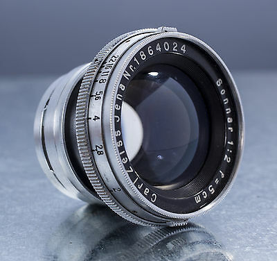 CARL ZEISS JENA 5cm Sonnar f/2 Lens for CONTAX - 50mm