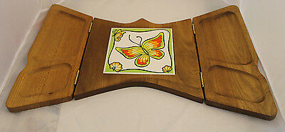 Butterfly Folding Hors d'oeuvre Server Tiled Vintage NIB  Gailstyn Gail Craft
