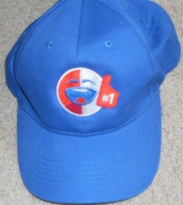 Say it with Pepsi Embroidered promotional adult size baseball hat cap blue Smile