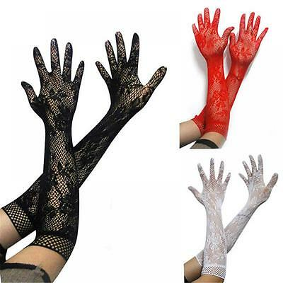 3 Colors Long Stretch Gift Wedding Women's Opear Bridal Lace Gloves