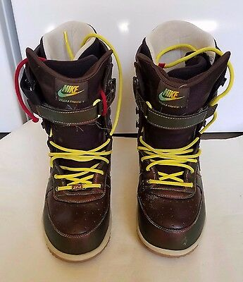 Nike Zoom Force 1 Men's Snowboard Boots Brown US Sz 11.5
