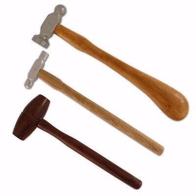 Set 3 Hammer Jewellers Tools Metal Shaping Silversmith chasing ball-pein