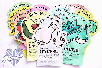 Multiple Item Discount!!: Tony Moly 'I'm Real' Sheet Masks - UK Seller!
