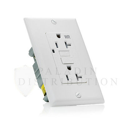 20A Amp Weather / Tamper Resistant GFCI Safety Outlet Receptacle w/ LED - UL2008
