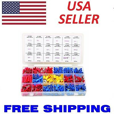Fork USA Butts Spades Professional Wire Terminal Connector Kit  2400 pc Rings
