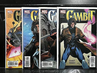 Lot of 4 Gambit #1 2 5 6 (2005 Series Marvel) Combined Shipping Deal!