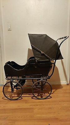 Antique c.1920 ALLWIN Baby Infant Carriage Buggy Stroller Pram Convertible RARE