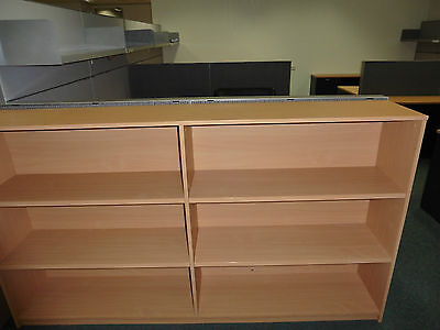 Office 2000Mm Beech Bookcase Brisbane