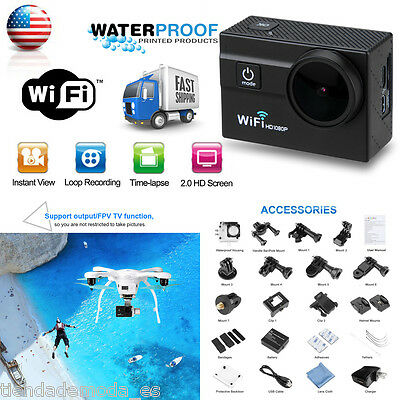 "2.0"" WIFI 1080P Full HD 45M Waterproof Action Sports Camera DV DVR Camcorder FPV"