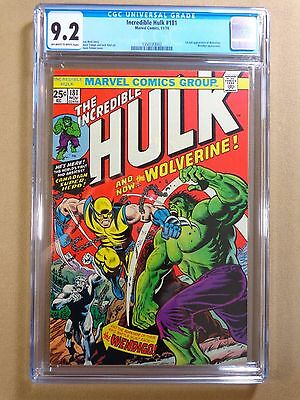 1974 Marvel Comics Incredible Hulk #181 CGC 9.2