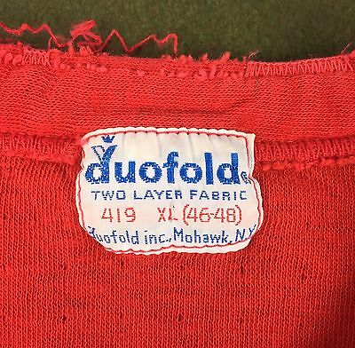 True Vintage 50s 60s Red Duofold 2-Layer Underwear Long Sleeve T-Shirt XL 46-48