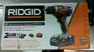 New Home Durable Quality 18 Volt Lithium Ion Cordless Compact Drill Driver Kit