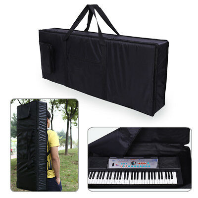 Portable 61-Key Keyboard Electric Piano Padded Case Bag Oxford Cloth