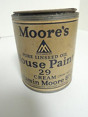Antique Paint Can Tin Advertising Benjamin Moore & Co. /nice Paper Label