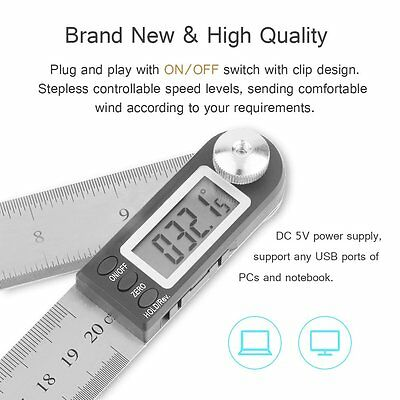 Digital Electronic Angle Finder Protractor Measuring Tool Ruler Stainless Steel