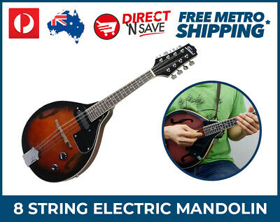 A-Style Electric Mandolin Black Cherry 8 String Volume Tone MT-30