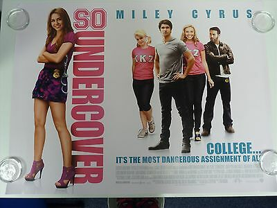 So Undercover Miley Cyrus Comedy Original Film / Movie Poster Quad 76x102cm