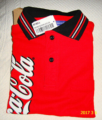 Coca-Cola Unisex Vintage Employee Uniform Polo Shirt Size Large New in Package
