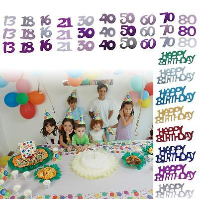 Kids/Adult Birthday Confetti Sequins Foil Birthday Party Scatters Table Decor