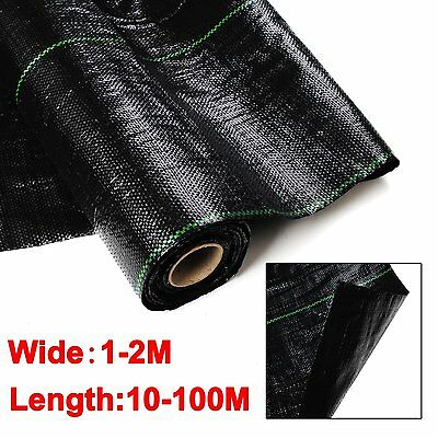 New 100GSM 1-2M Weed Control Weedmat LANDSCAPE FABRIC Mat Heavy Ground COVER