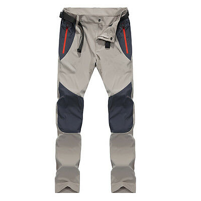 Mens Quick-dry Climbing Pants Casual CONTRAST COLOR Camping Trousers 3 Colors