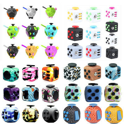 Various Style Stress Relief Focus 6-12sides Desk Toy Magic Fidget Cube