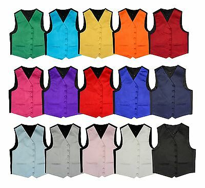SALE!! Satin Solid Men's Wedding Waistcoat Vest Proms Parties 15 Colours