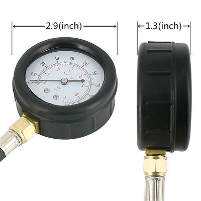 TU-12 Engine Oil Pressure Tester Meter Pressure Gauge Test Tool Kit 100PSI +Case