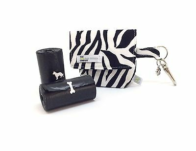 Pouch for Dog Poo Bags, Zebra Print, Dog Treat Bag / Dog Poo Bag Carrier