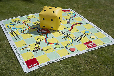 Traditional Garden Games Snakes and Ladders Set Family Summer Outdoor 2m x 2m