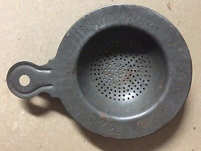 Rare Vintage Marked Compliments Of Lipton's Tea Promotional Tea Strainer Infuser
