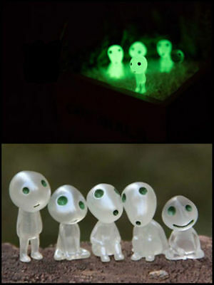 6 Figures Studio GHIBLI Princess Mononoke Forest Spirit Elf Kodama Glow Dark Toy