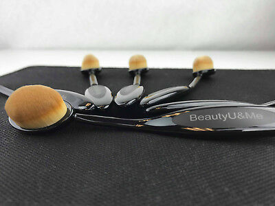 New 1pc Oval Toothbrush Shaped Cosmetic Powder Cream Foundation Makeup Brush