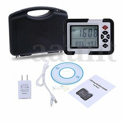 USB Carbon Dioxide CO2 Data Air Temperature LCD Logger Humidity Meter Monitor