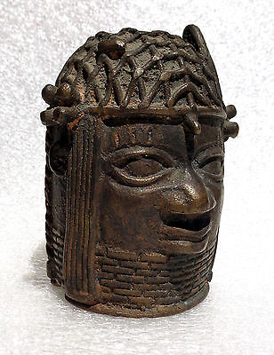 AFRICA: old and very fine bronze african head - Benin (2)
