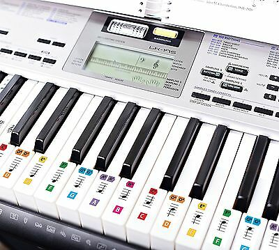 Best Reusable Color Piano Key Note Keyboard Stickers - Learn to Play Music