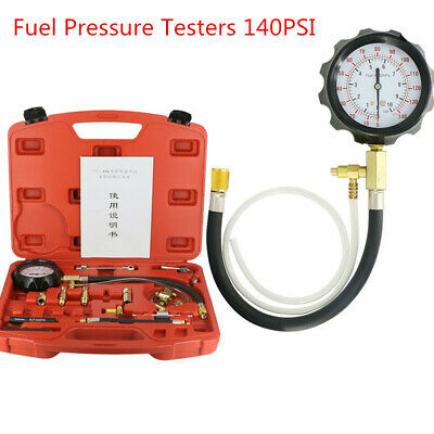 TU-114 Petrol Fuel Injection Pump Test Pressure Tester Gauge Kits140PSI+Case DHL