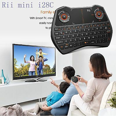 Rii i28C mini Wireless Keyboard Backlit for Smart TV Computer HTPC Projector