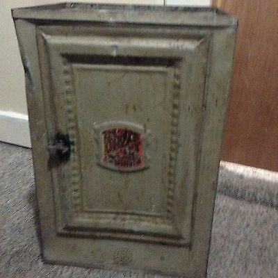 Antique Pie Safe Bread Box Metal