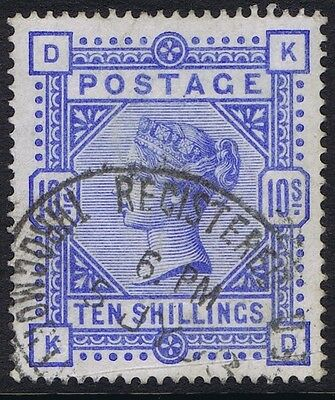 1883 SG 183 10/- Ultramarine Very Good Used Cat. £525.00