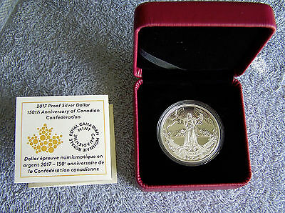 2017 Proof Silver Dollar 150th Anniversary of Canadian Confederation