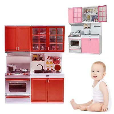 Toys Kitchen Children Kids Cooker Microwave Oven Cook Stove Play Food Set Hot FT