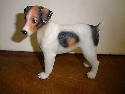"Jack Russell Terrier dog figure 4.5"" tall X 4"" long"