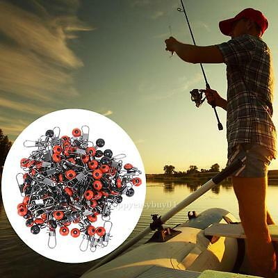 20/50/100pcs Fishing Bobber Stopper Shape Space Beans Connector Rolling Swivel