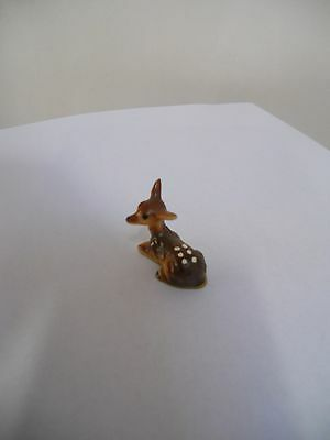 VINTAGE, VERY TINY PORCELAIN SPOTTED DEER (faun) FIGURINE