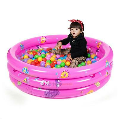 Portable 3 Rings Trinuclear Baby Inflatable Pool Swimming Paddling Pool 80X80cm
