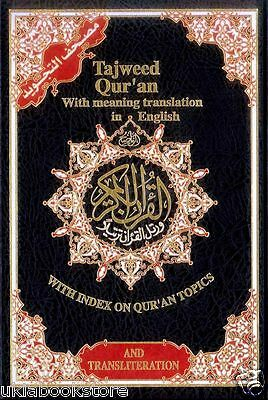 Tajweed Quran with English Translation and Transliteration (Uthmani Script)